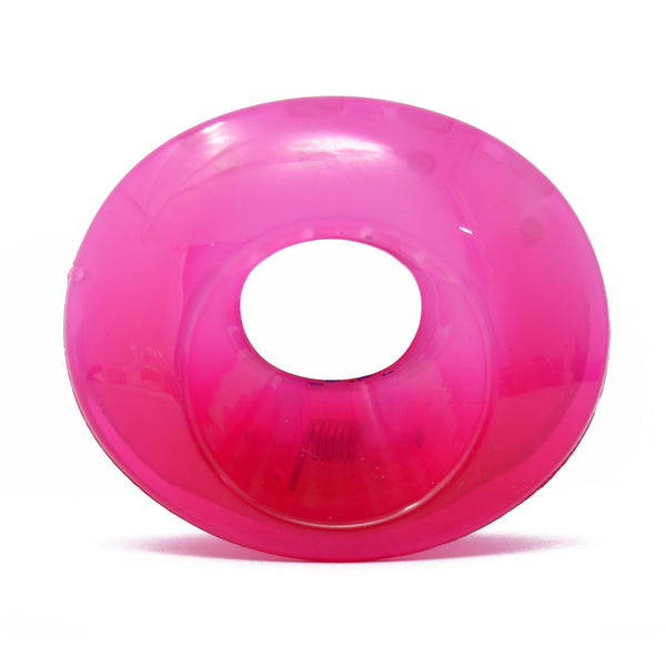 Hot Pink Oval Translucent Hair Claw - 063