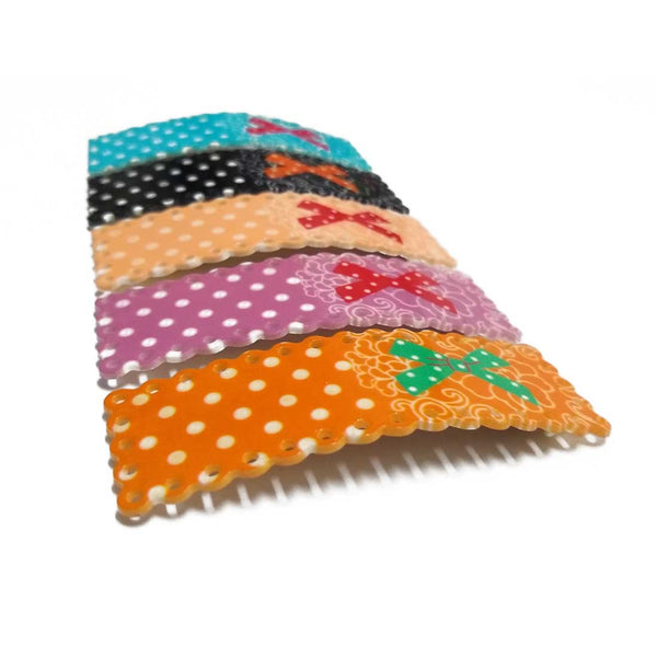Anokhi Ada Printed Large Tik Tak Hair Clips (Multi-Colour, Pack of 5) - ZD-13-c
