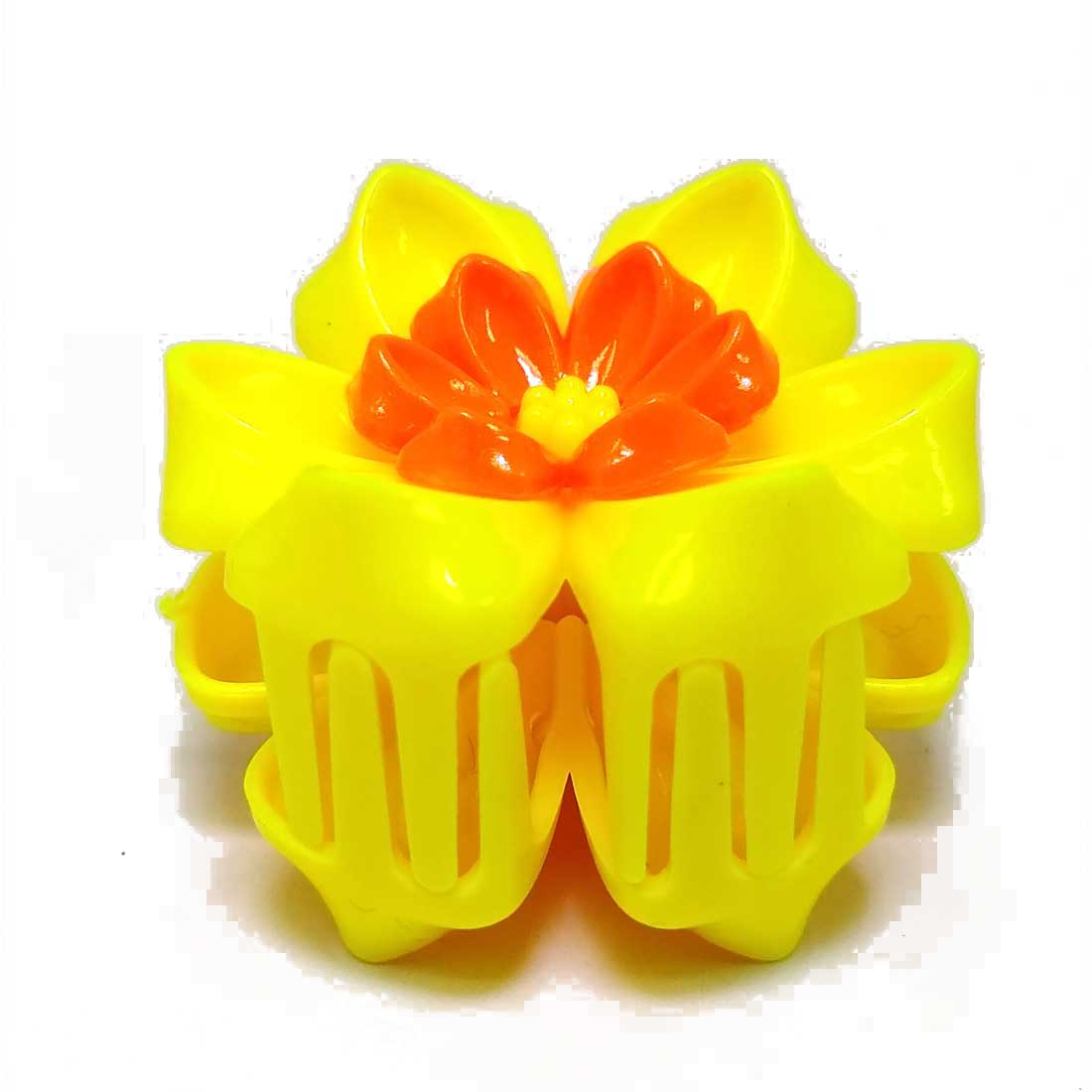 Anokhi ADA Floral Hair Clutcher for Girls and Women (One Hair Clutcher, Yellow) -C-54