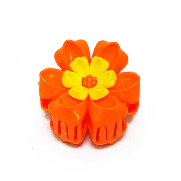 Anokhi ADA Floral Hair Clutcher for Girls and Women (One Hair Clutcher, Orange) -C-50