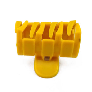 Anokhi ADA Zig-Zag Hair Clutcher for Girls and Women (One Hair Clutcher, Yellow) -C-29