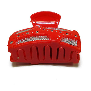 Anokhi ADA Shining Hair Clutcher for Girls and Women (One Hair Clutcher, Red) -C-21