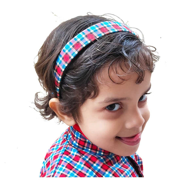 Anokhi Ada Fabric on Plastic Hairbands / Headbands for Kids and Girls (Multi-Colour, Pack of 1) - 09-09H