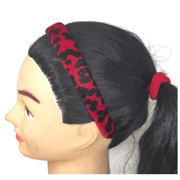 Anokhi Ada Velvet on Plastic Hairbands / Headbands for Kids and Girls (Maroon, Pack of 1) - 09-11H
