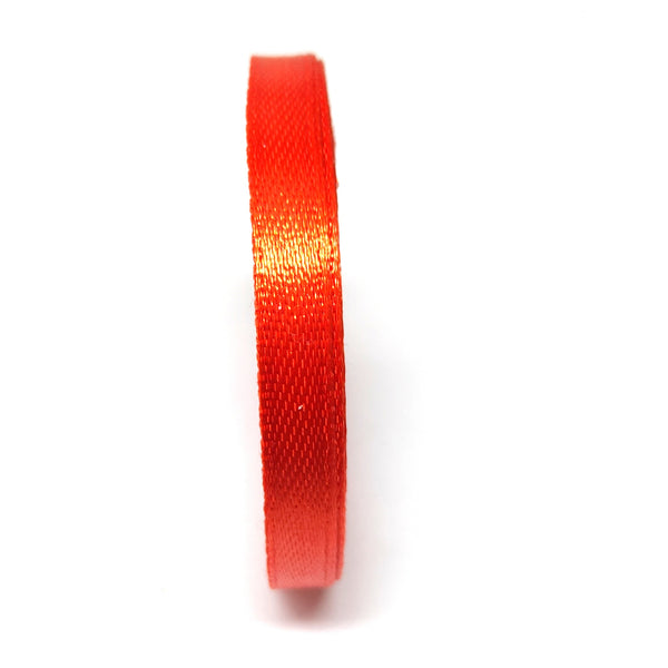 6.5 mm (Quarter Inch) Red Satin Ribbon (011)