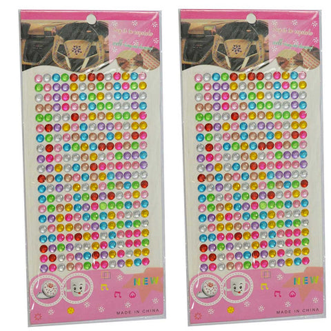 6 mm Multi colour Crystal Stickers ( Combo of 2 Sheets)-013 - Anokhiada.com