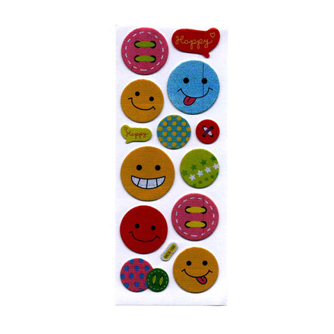 Smiley in Various Size Stickers