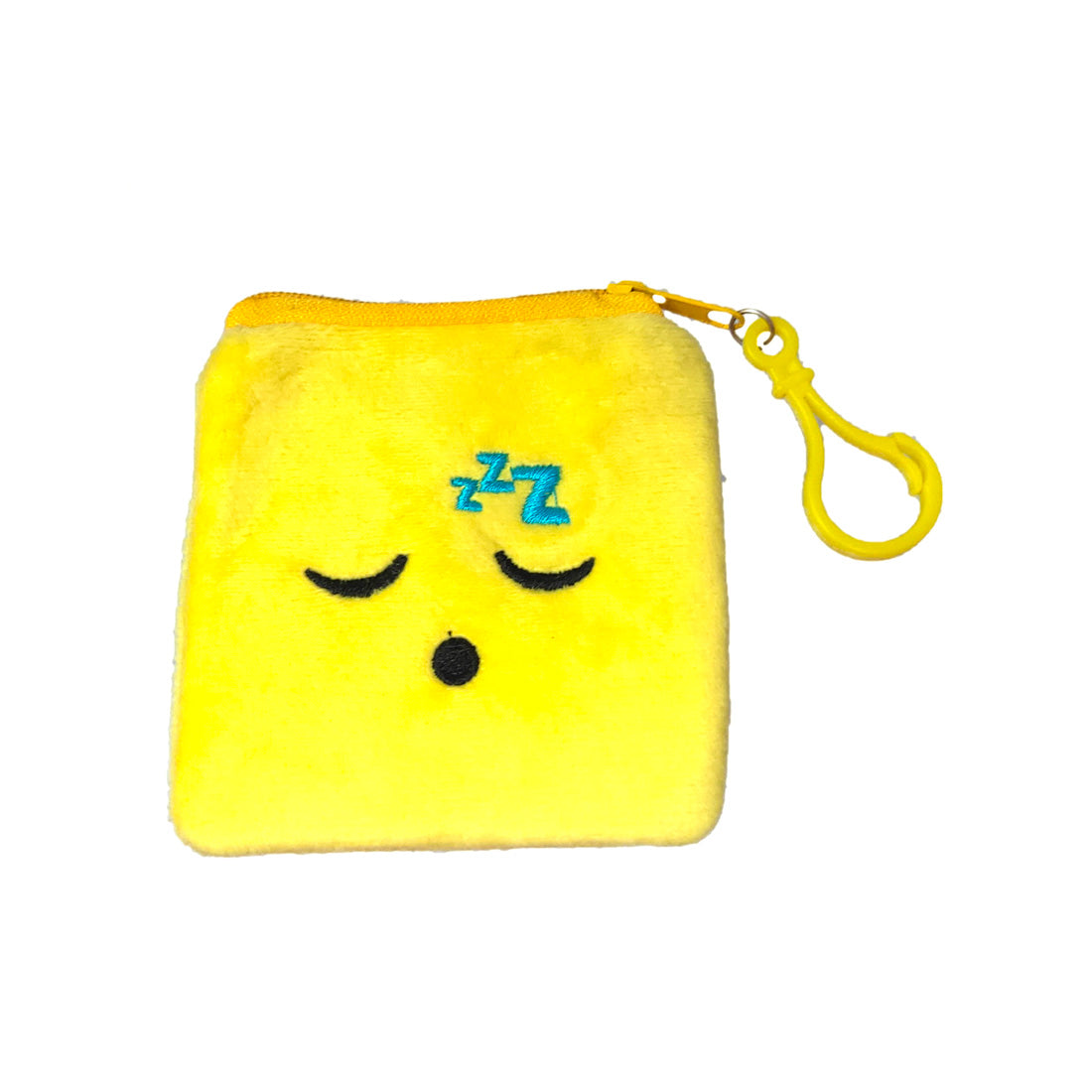 Anokhi Ada Yellow Velvet Smiley Handy Purse/ Pouch/ Wallet for Girls (YB-01)