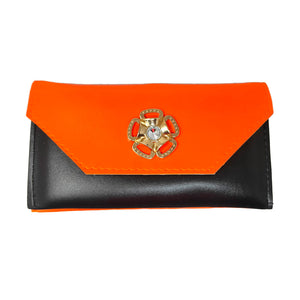 Anokhi Ada Orange PU Leather Handy Purse/ Pouch/ Wallet for Girls (YB-09)