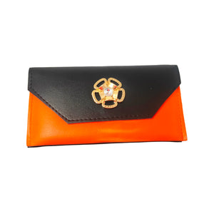 Anokhi Ada Black PU Leather Handy Purse/ Pouch/ Wallet for Girls (YB-10)