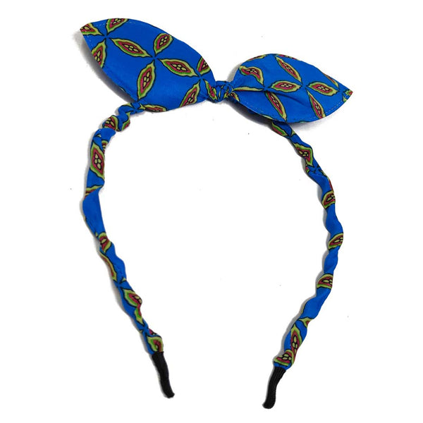 Anokhi Ada Bunny Ear Multi -Colour Fabric on Metal Hairband/Headband for Girls and Women-(ZC-04)