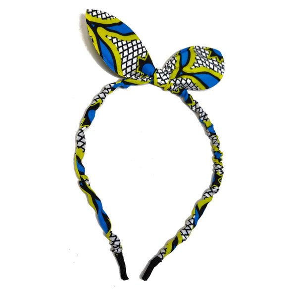 Anokhi Ada Bunny Ear Multi -Colour Fabric on Metal Hairband/Headband for Girls and Women-(ZC-12)