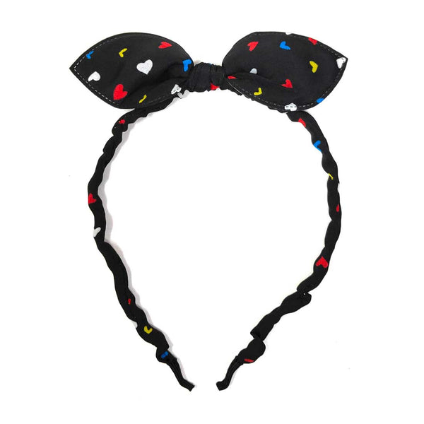 Anokhi Ada Bunny Ear Multi -Colour Fabric on Metal Hairband/Headband for Girls and Women-(ZC-13)