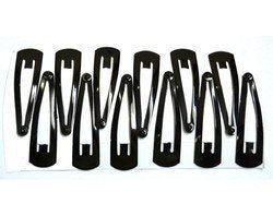 Anokhi Ada Daily Use Black Tik Tak Hair Clips (Combo of 12  Medium Clips) -ZD-19