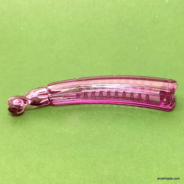 Premium Translucent Banana Hair Clip for Girls & Woman (Honey) - ZF-53