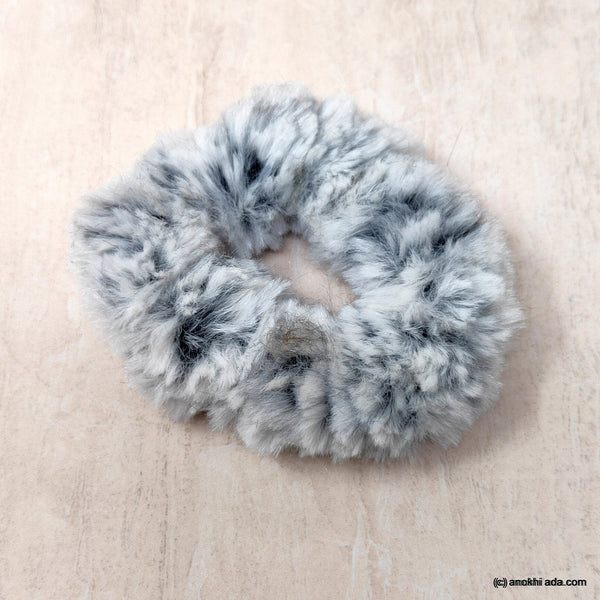 Anokhi Ada Multi- Colour Small Fur Scrunchie for Girls and Women ( 2 Pcs, ZG-37 )