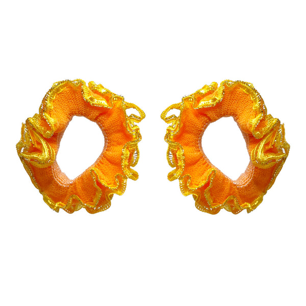 Anokhi Ada Hair Ties/ Ponytail Holders for Girls and Women (Set of 2 Ponytail Holders, Yellow)-Z J-06