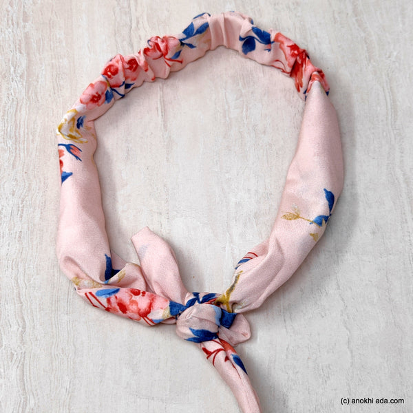 Anokhi Ada Multi-Colour Printed Fabric Knot Headband for Girls and Women (ZK-19)