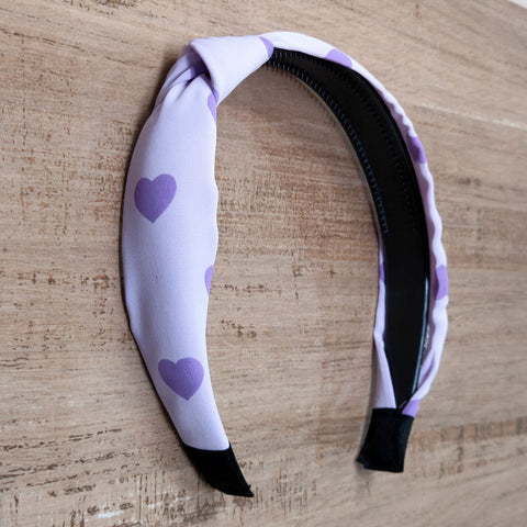 Anokhi Ada Heart Print Fabric Knot Headband for Girls and Women (ZN -12)