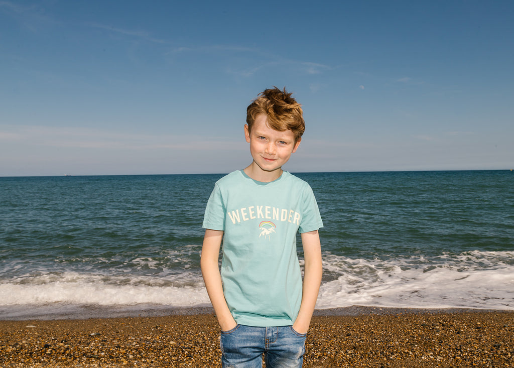 Kids Lucky Tee in Ocean Teal - Weekender