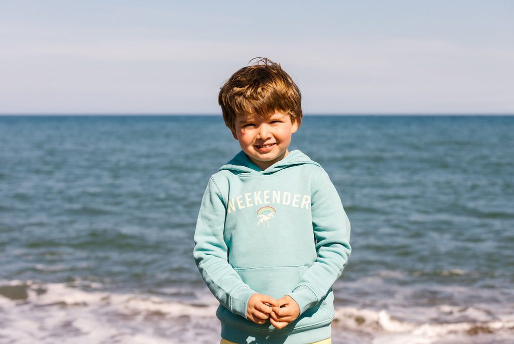 Mini Weekender Hoodie in Ocean Teal