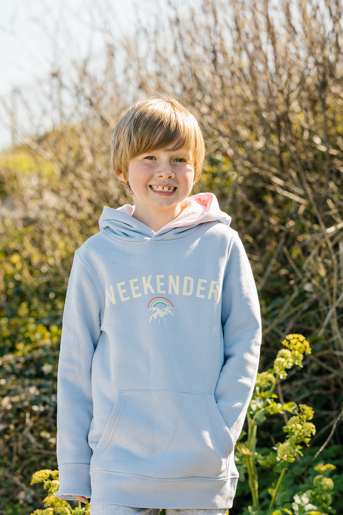 Mini Weekender Hoodie in Powder Blue