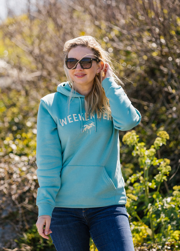 The Weekender Hoodie in Ocean Teal