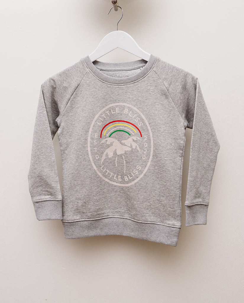 Little Bliss by Anna Daly's Kid's Varsity sweatshirt in grey