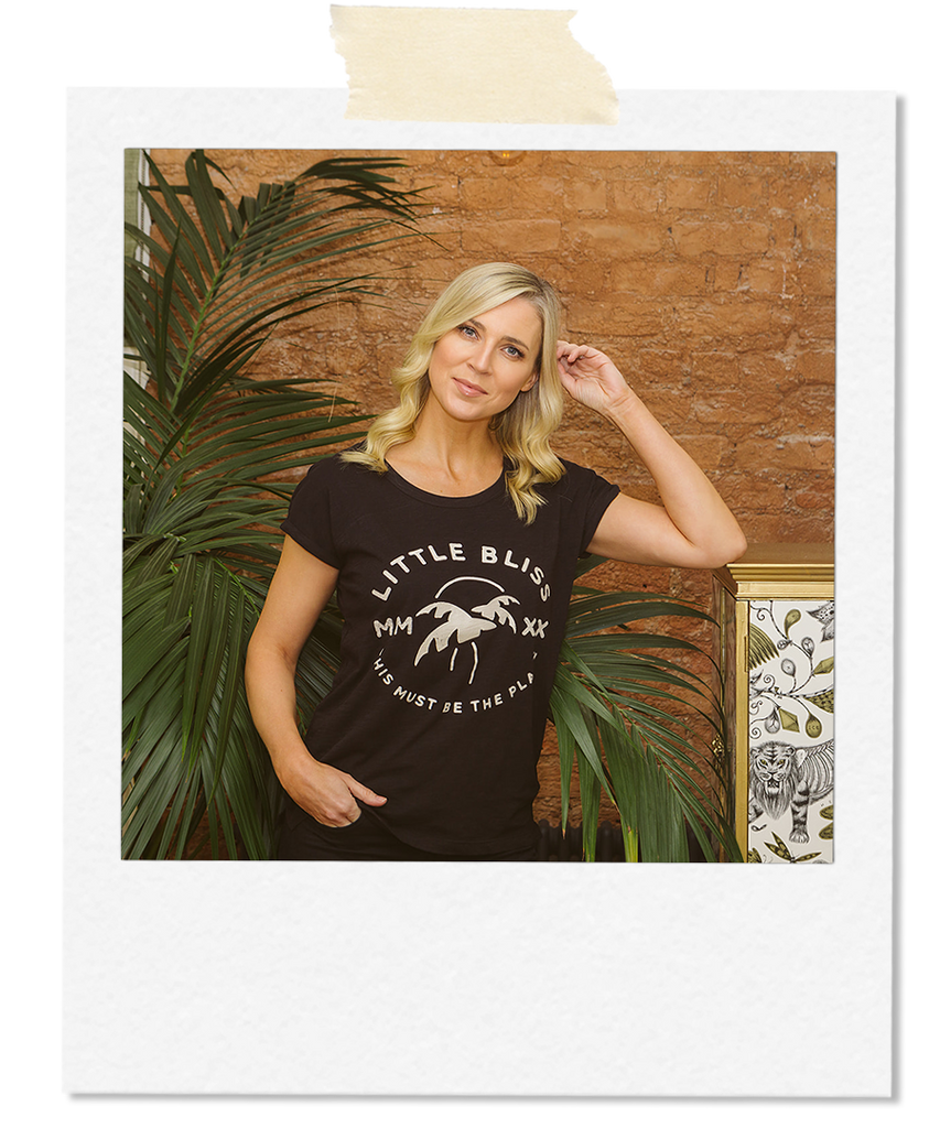 Little Bliss by Anna Daly This Must Be The Place Tee in Black