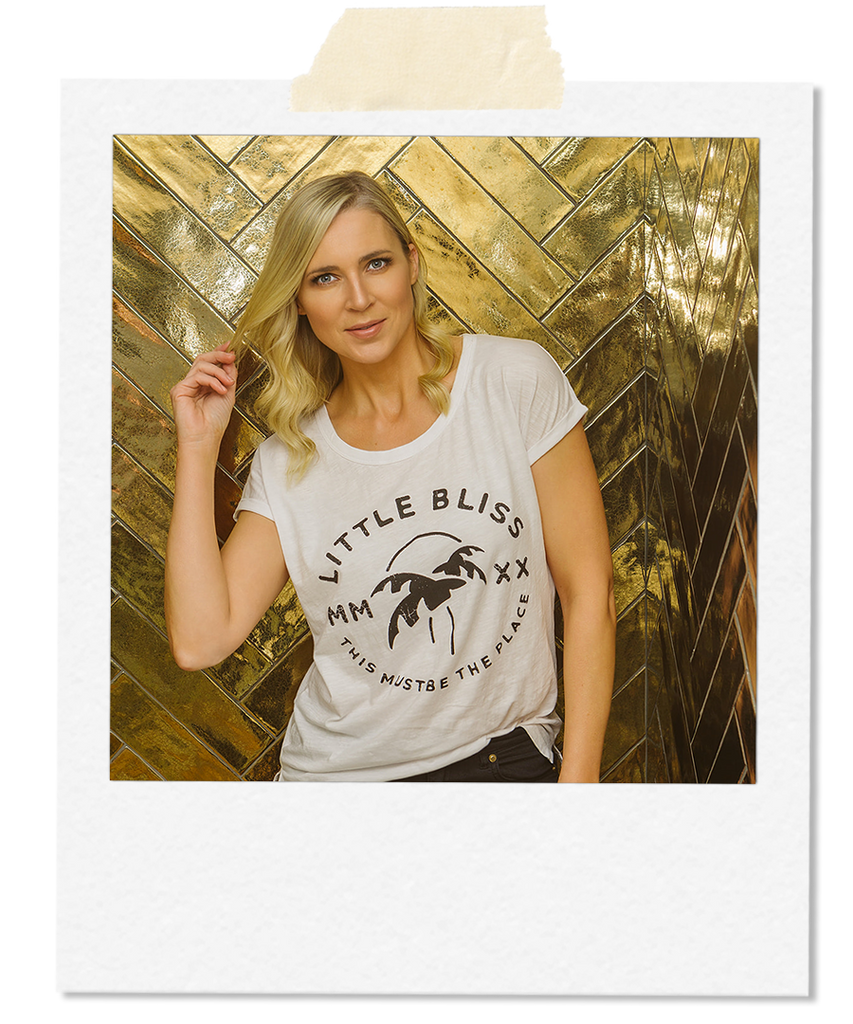 Little Bliss by Anna Daly This Must Be The Place Tee in White