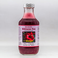 Raw Hibiscus Tea with Ginger