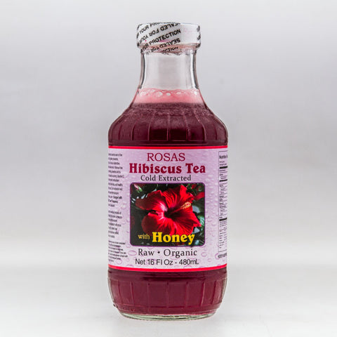 Raw Hibiscus Tea with Honey