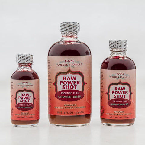 Golden Triangle Raw Power Shot Organic Rosas UNSWEETENED