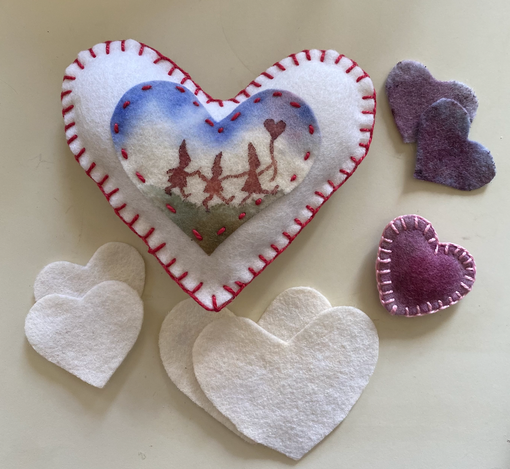 A Caring Heart Painted with Berry Inks
