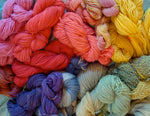 A Rainbow of Plant- Dyed- Yarns