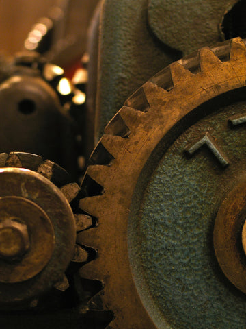 Jewellery machines, cogs, nuts and bolts.