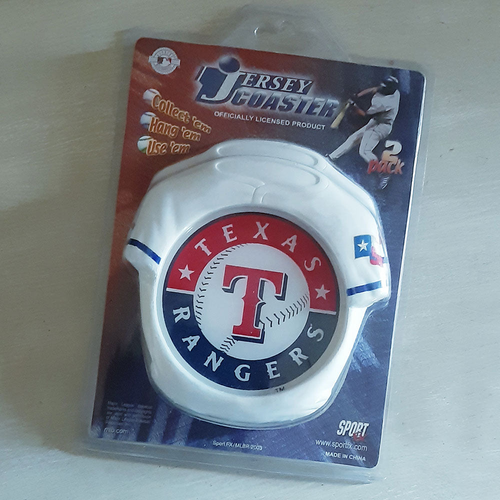 Texas Rangers Twin Jersey Coaster Set