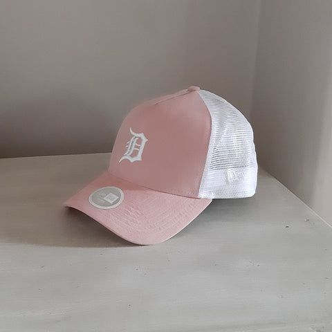 Detroit Tigers Womens Peach Adjustable Trucker Cap