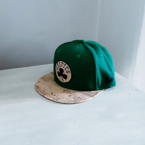 Boston Celtics Real Grain Wood Visor 59FIFTY NBA Fitted Baseball Cap