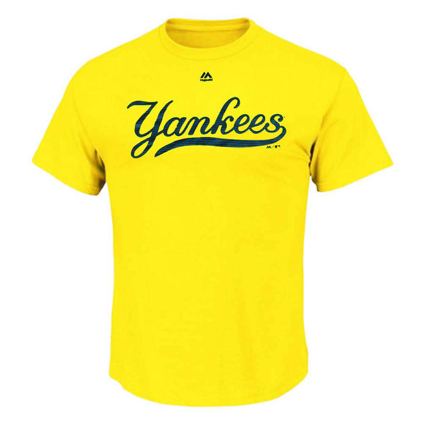 New York Yankees Blazing Yellow Cool Base Evolution T-Shirt
