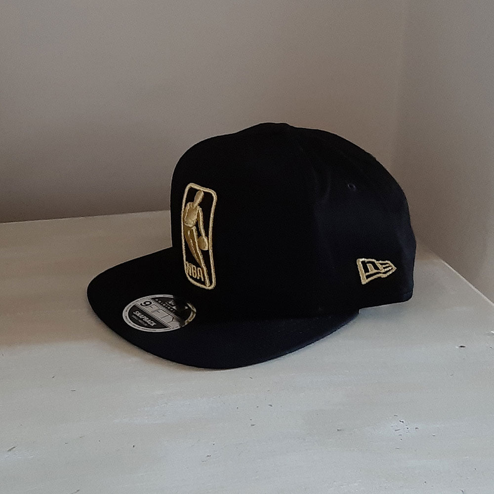 NBA Black 9FIFTY Logo Cap - size small/medium