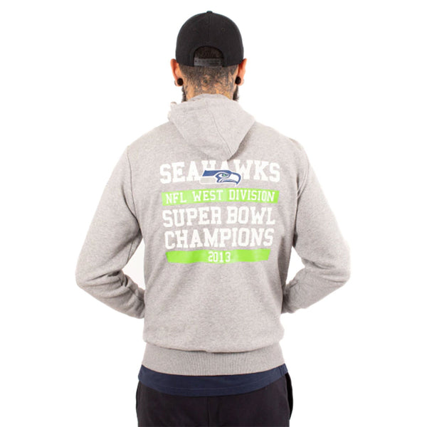 Seattle Seahawks Large Logo NFL Full Zip Hooded Fleece