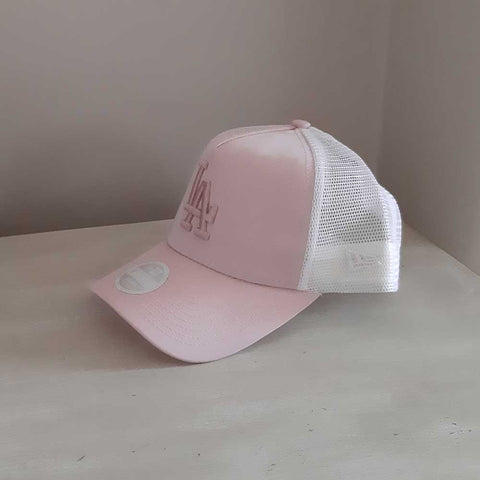 LA Dodgers Womens Adjustable Pink Trucker Baseball Cap
