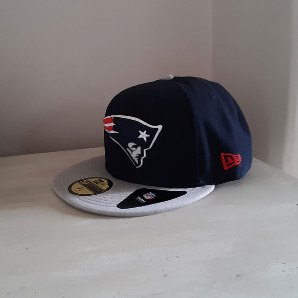 New England Patriots Grey Bill 59FIFTY NFL Fitted Cap - size 7 1/4