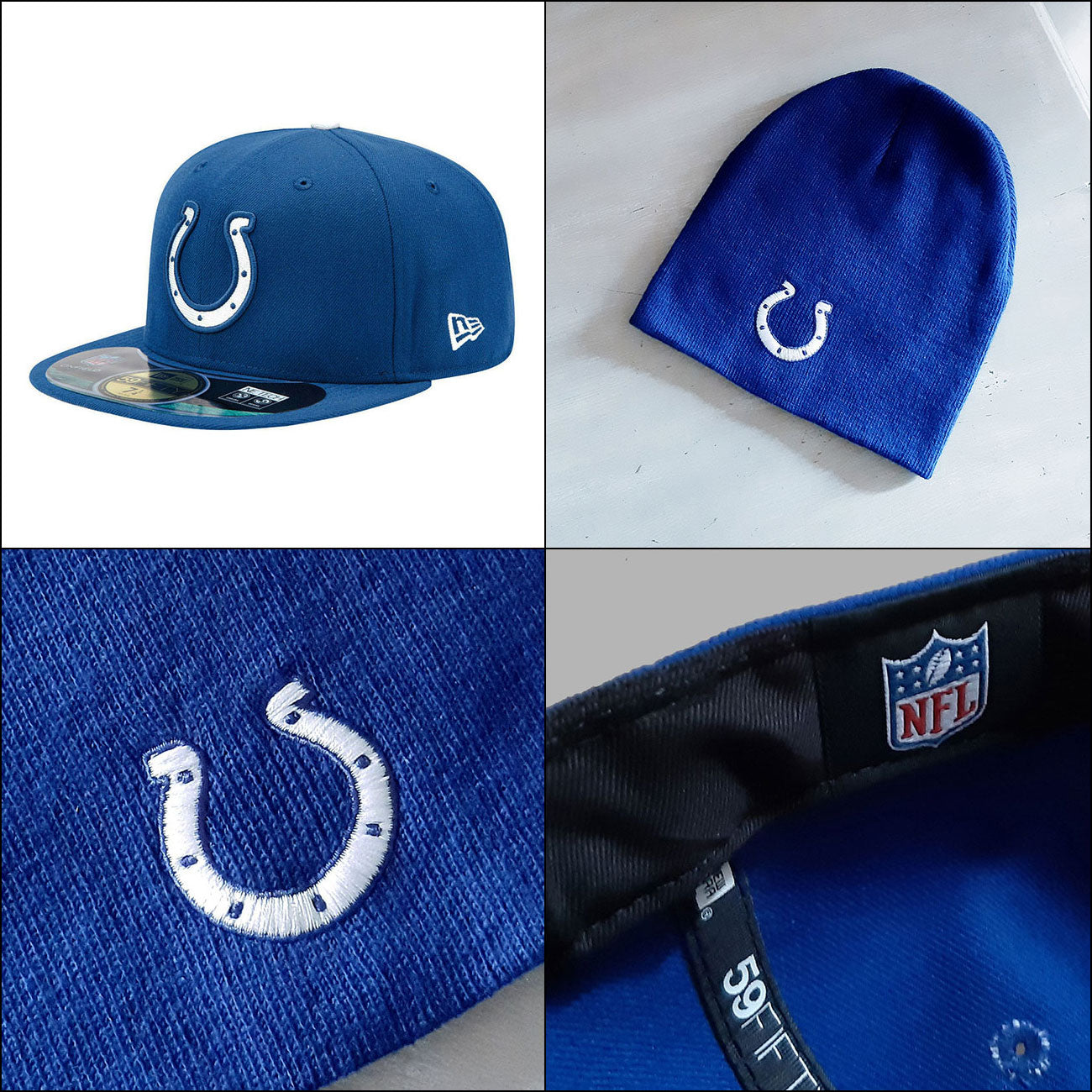 Indianapolis Colts NFL 59FIFTY OnField Fitted Baseball Cap PLUS Colts Beanie