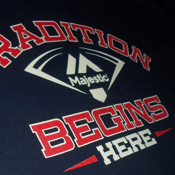 Majestic 'Tradition Begins Here' Licenced MLB T shirt