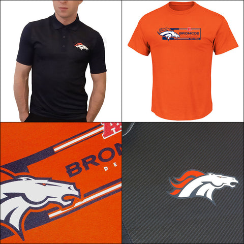 Denver Broncos Performance NFL TX3 Polo PLUS T shirt