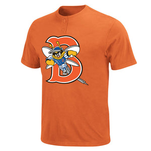 New York Mets Vintage Affiliate - Binghamton Mets MiLB 2 Button T shirt