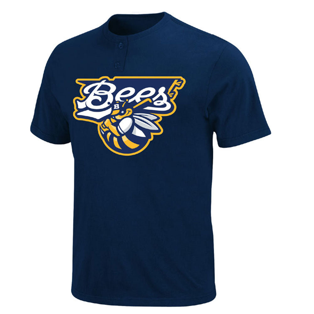 LA Angels MLB Affiliate - Burlington Bees MiLB 2 Button T shirt