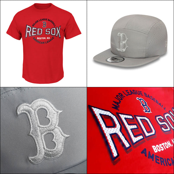 Boston Red Sox 'Beat Em' MLB Tee + New Era Adjustable Lightweight Cap